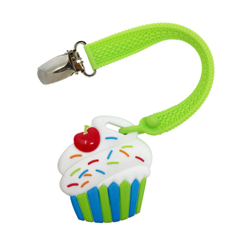 MINI CUPCAKE TEETHER AND STRAP