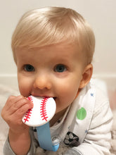 Load image into Gallery viewer, SILLI SPORTS BANDANA BIB SET WITH BASEBALL TEETHER & STRAP