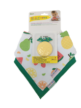 Load image into Gallery viewer, SILLI FRUITS BANDANA BIB SET WITH PINEAPPLE TEETHER & STRAP