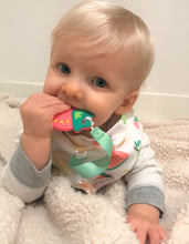 Load image into Gallery viewer, SILLI FRUITS BANDANA BIB SET WITH STRAWBERRY TEETHER & STRAP