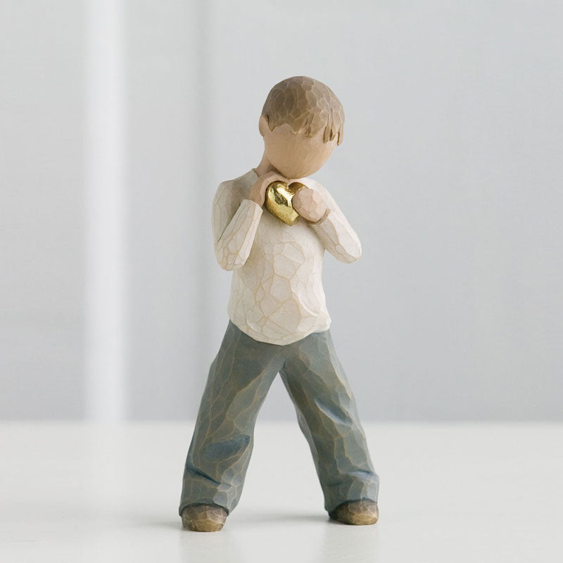 'Heart Of Gold' Figurine