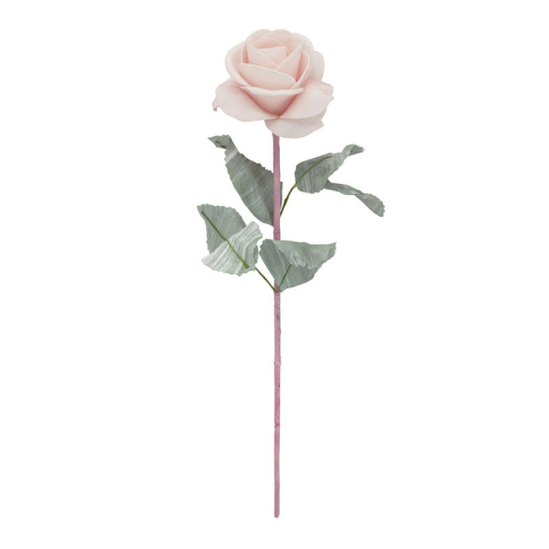 Artificial Leafy Pink Rose