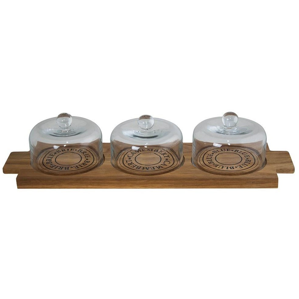 Fromage Wooden Cheese Board & Domes