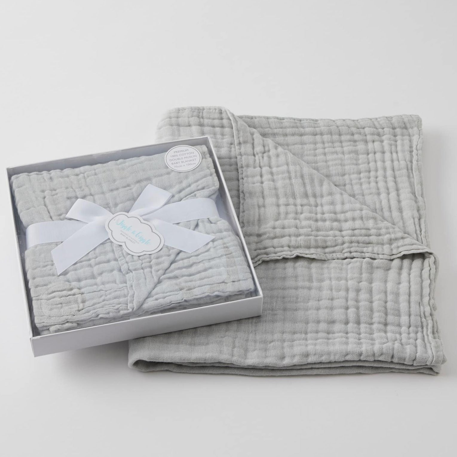 Grey Double Muslin Blanket