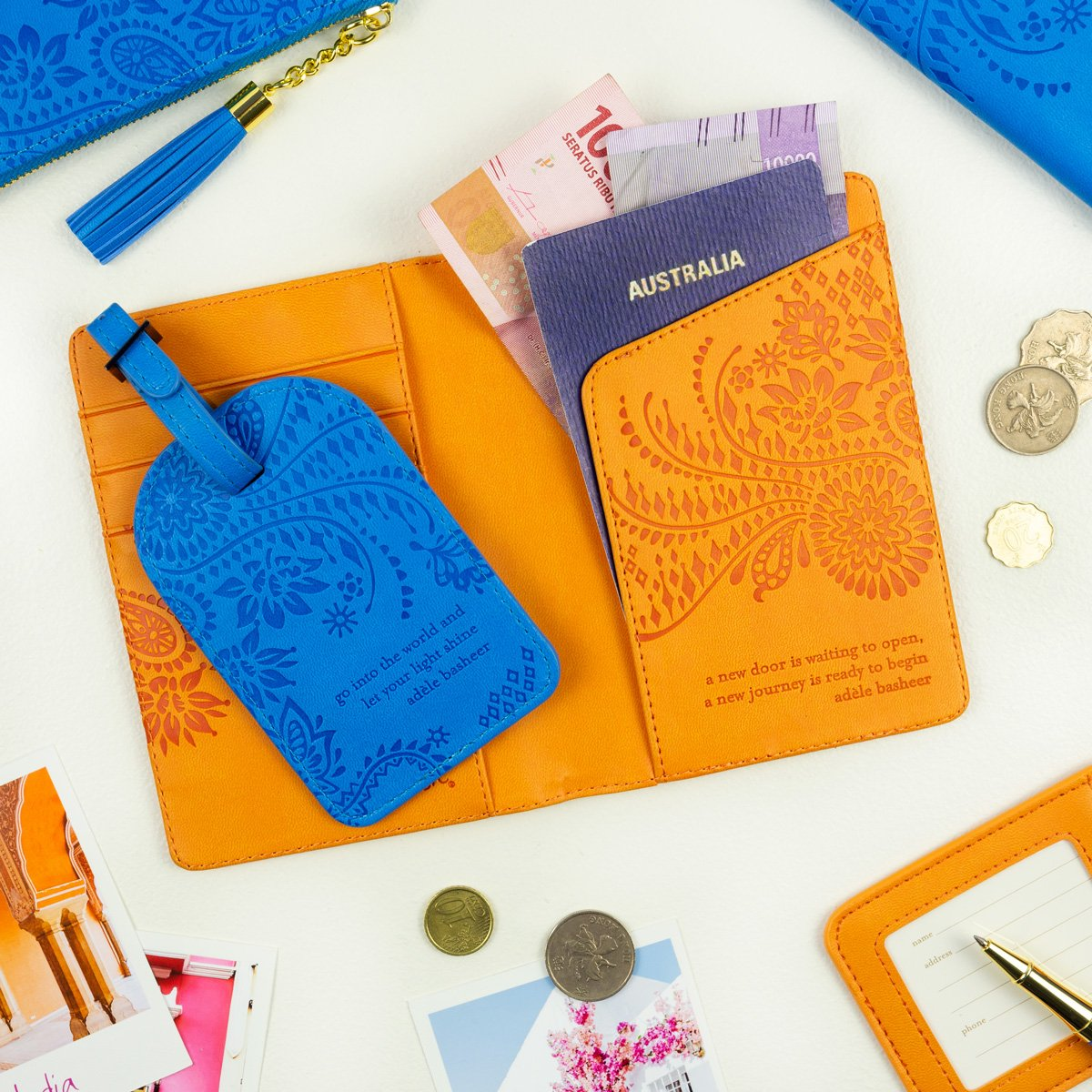 Sunrise Orange Passport Wallet