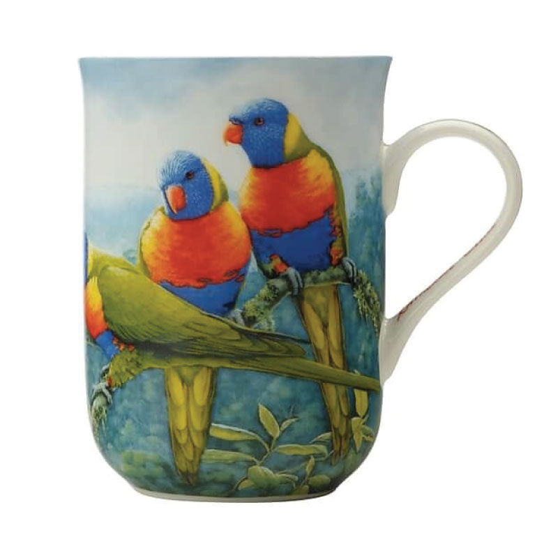 MW Birds of Australia KC 10yr Anniversary Mug 300ML Lorikeet Gift Boxed