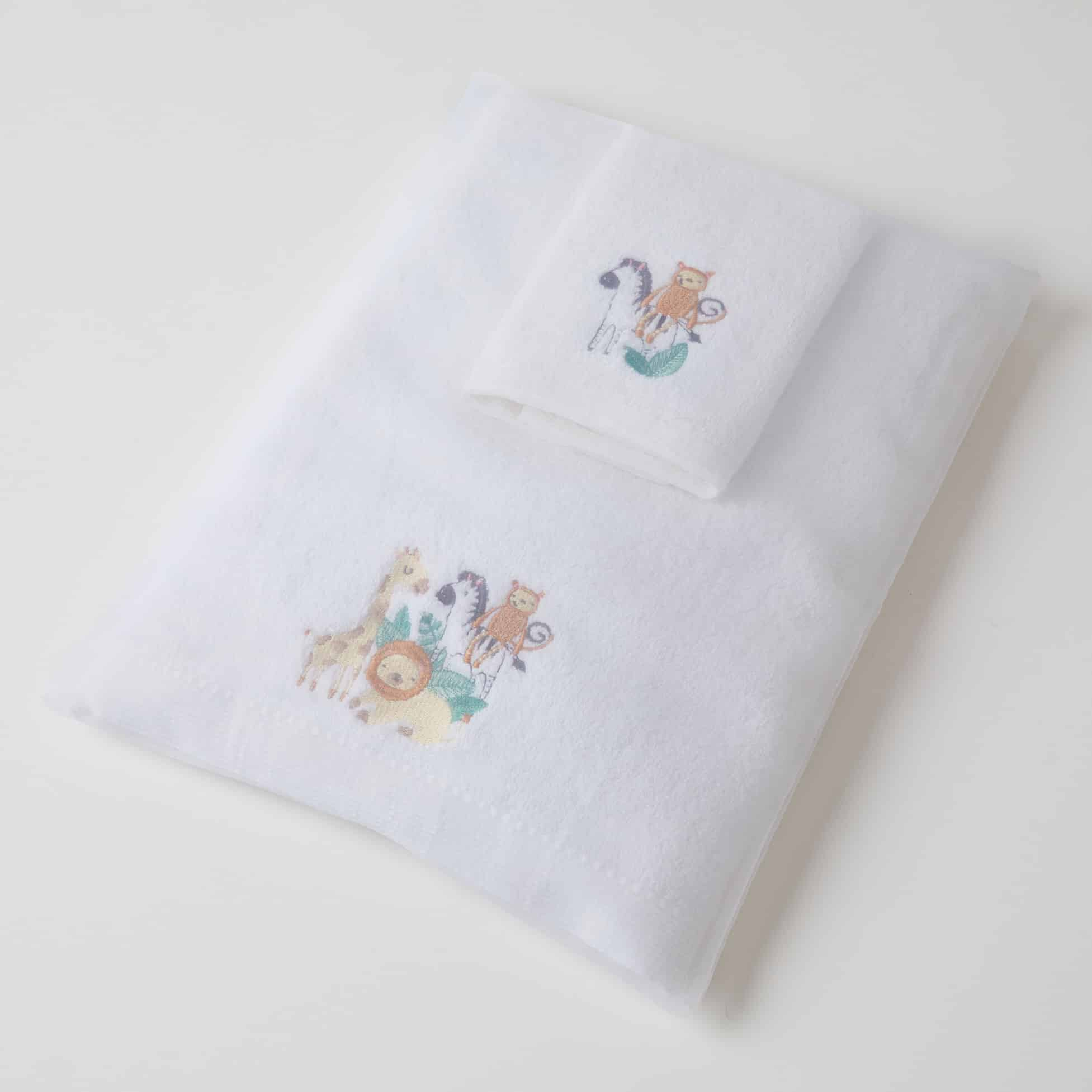 Safari Bath Towel & Washer Set