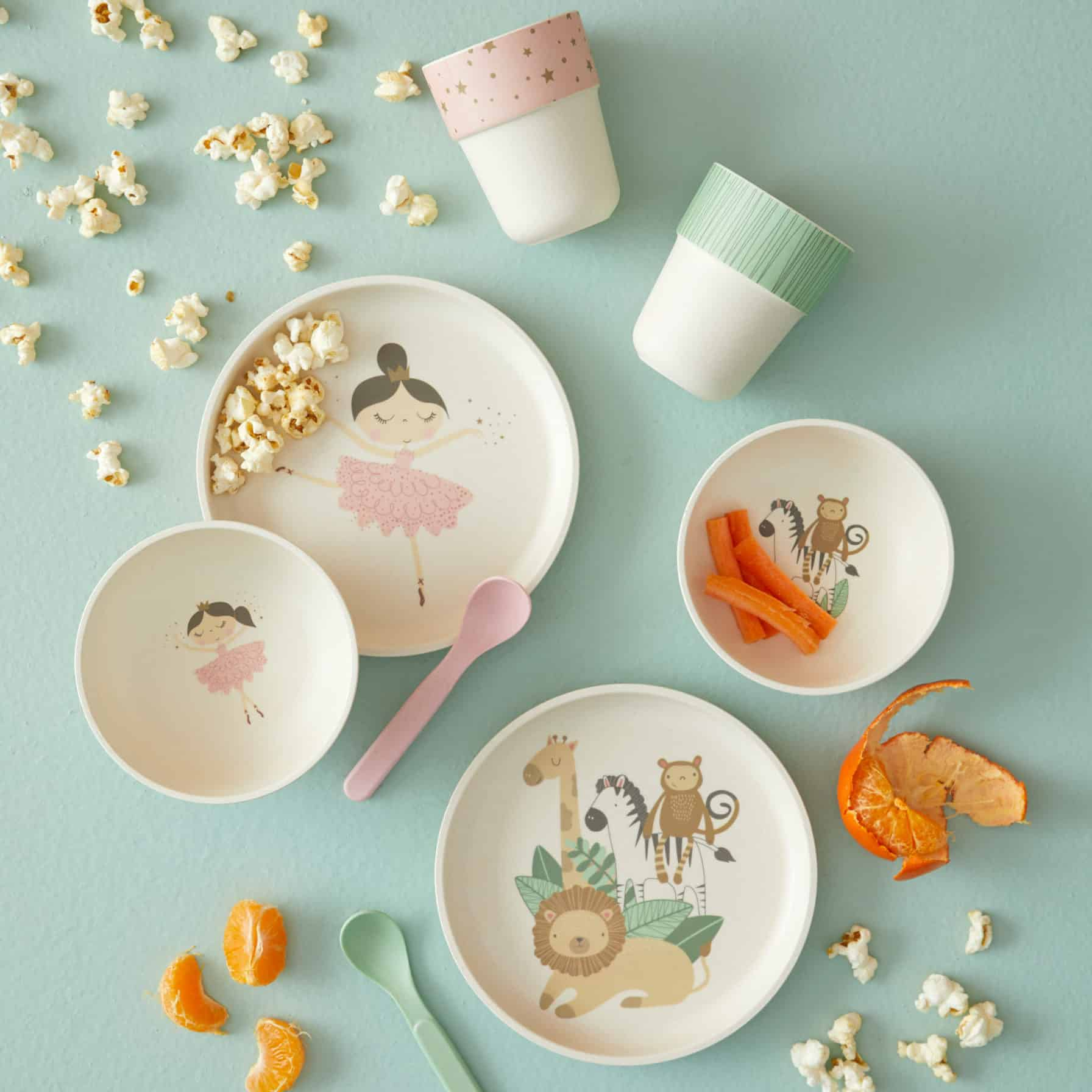 Bamboo Kids 4Pc Animal Dinner Set