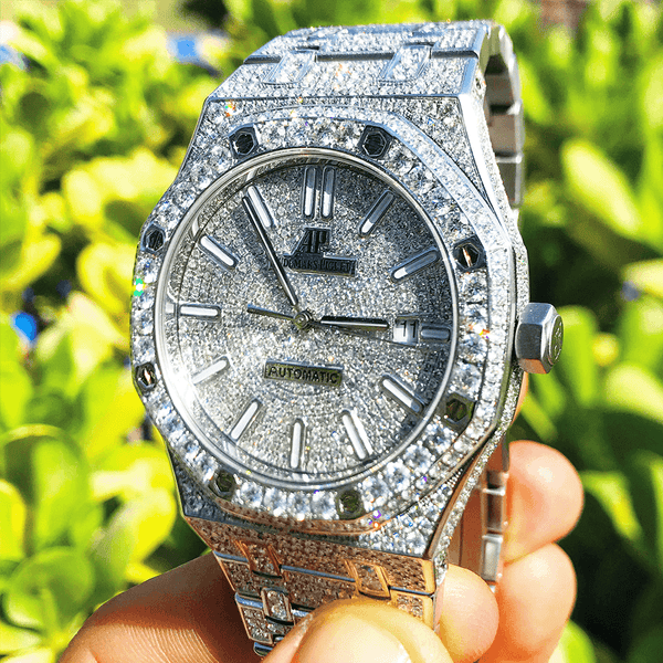 Custom Audemars Piguet - Royal Oak 41 - Steel Full Diamond
