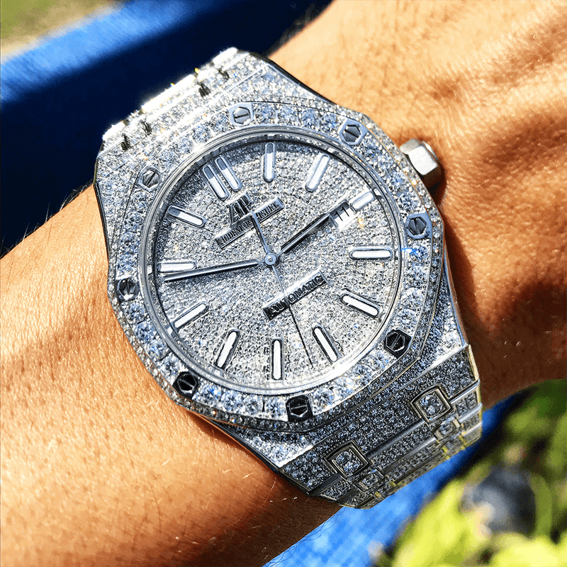 Audemars Piguet Royal Oak 41 Steel Custom Diamond Set Full Cagau