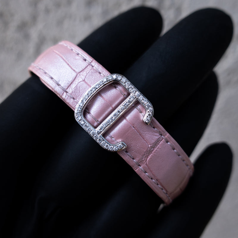 Cartier - Ladies Ballon Bleu de Cartier - Pink Guilloché Dial - Custom Diamond-Set