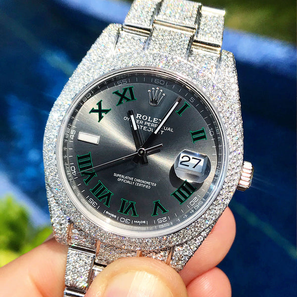 Custom Rolex Datejust 41 - Wimbledon - Honeycomb