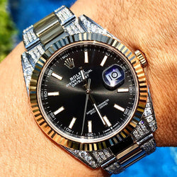 Custom Rolex Datejust 41 - Bi-Metal Oyster Black