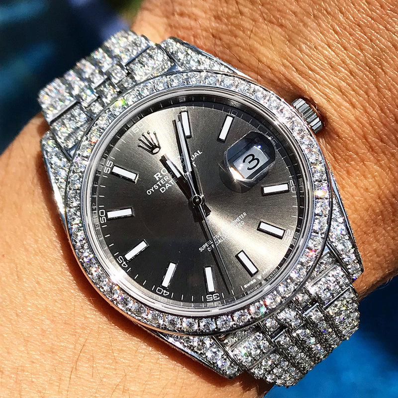 Custom Rolex Datejust 41 - Rhodium Jubilee