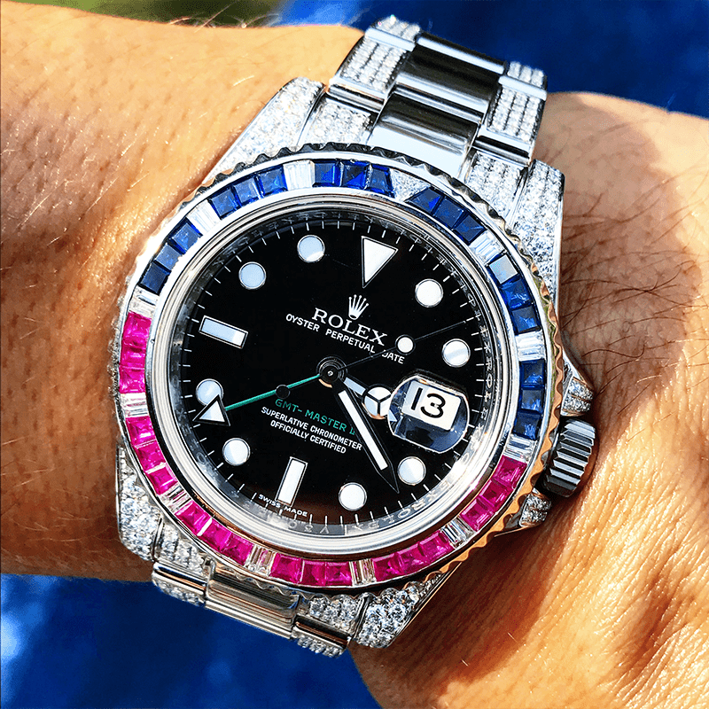 Custom Rolex GMT-Master II - Pepsi Outer Links