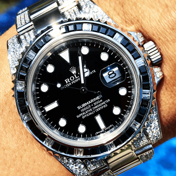 Custom Rolex Submariner Date - Black Onyx
