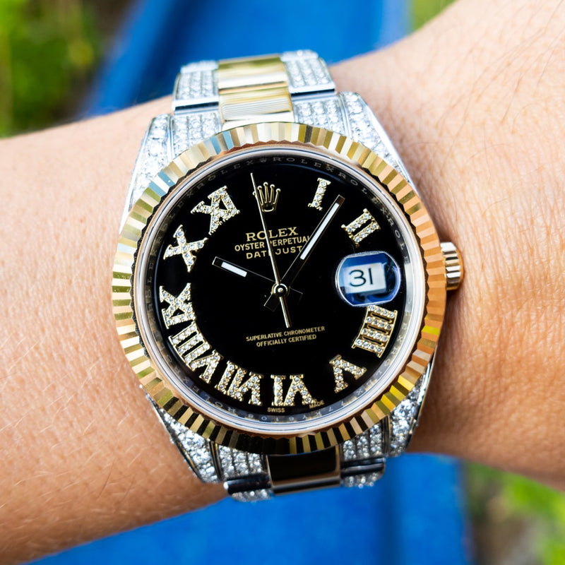 Rolex Datejust 41 - Bi-Metal Oyster Black Roman featured
