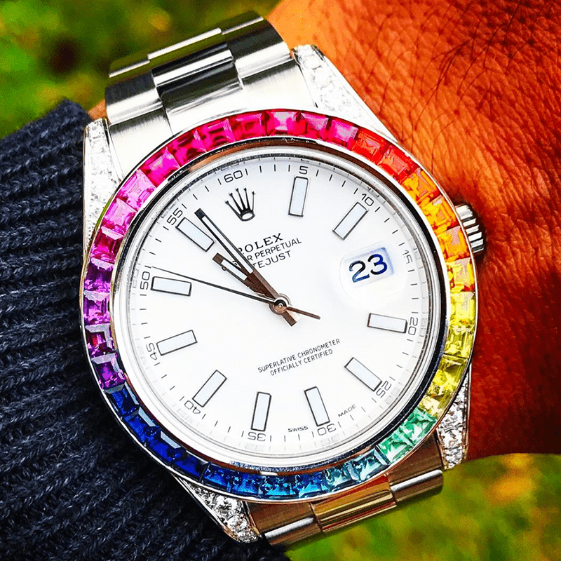 Custom Rolex Datejust 41 - Rainbow