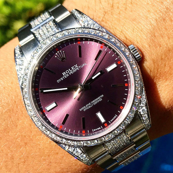 Custom Rolex Oyster Perpetual - Grape Dial