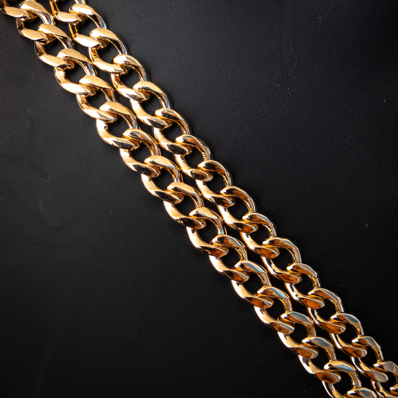 18K Solid Gold Curb Chain - 5mm