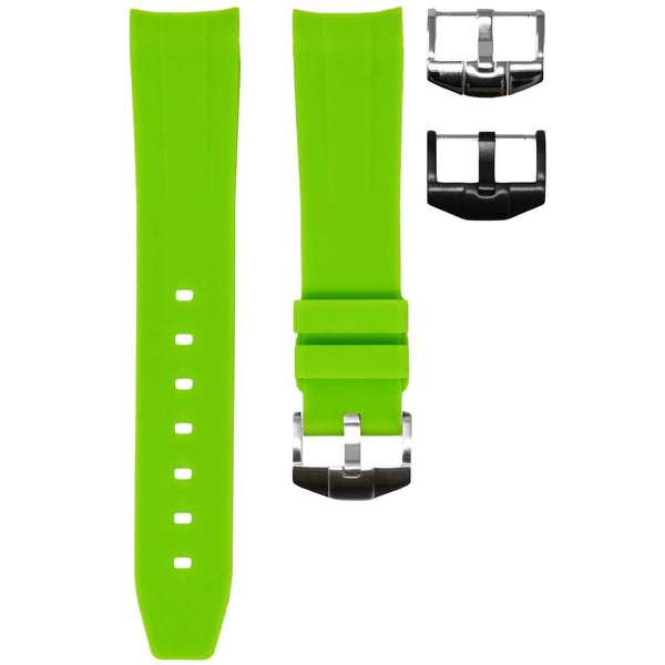 Horus - Lime Green (Solid) Rolex Rubber Watch Strap