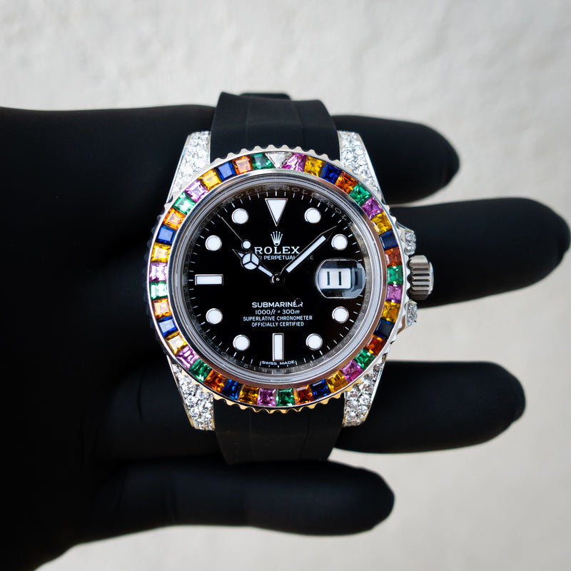 Rolex Submariner Date - Oystersteel - Oyster - Haribo Bezel - Custom Diamond Set - Horus Black