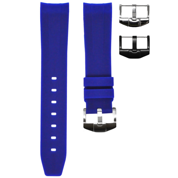 Horus - Blue (Solid) Rolex Rubber Watch Strap