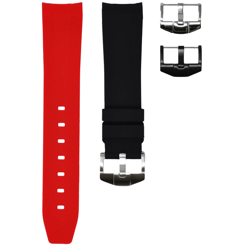 "Horus - Red & Black ""Coke"" (Solid) Rolex Rubber Watch Strap"