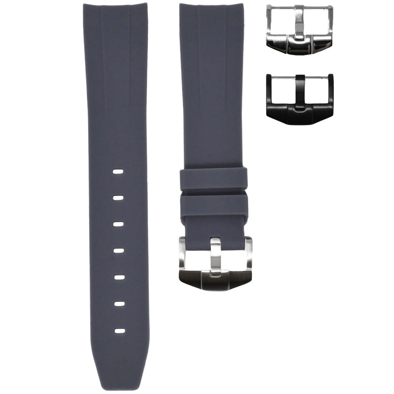 Horus - Grey (Solid) Rolex Rubber Watch Strap