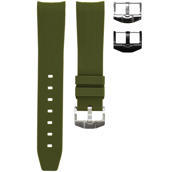 Horus - Olive (Solid) Rolex Rubber Watch Strap
