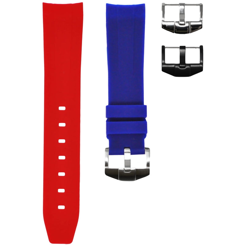 "Horus - Red & Blue ""Pepsi"" (Solid) Rolex Rubber Watch Strap"