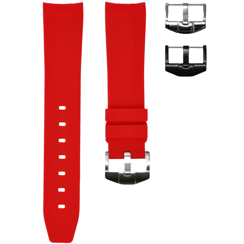 Horus - Red (Solid) Rolex Rubber Watch Strap
