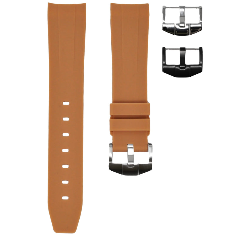 Horus - Tan (Solid) Rolex Rubber Watch Strap
