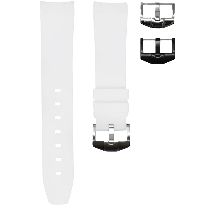 Horus - White (Solid) Rolex Rubber Watch Strap