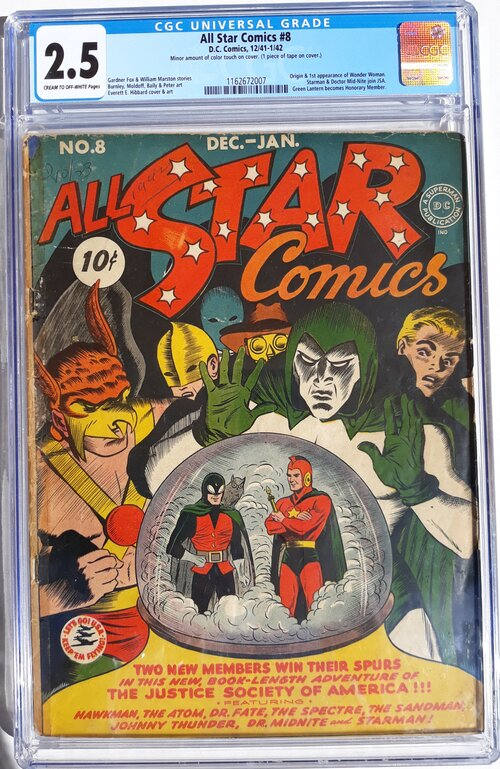 All Star Comics 8 CGC 2.5