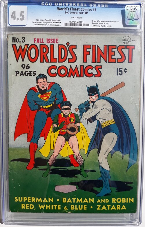 World's Finest Comics 3 CGC 4.5