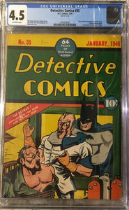 Detective Comics 35 CGC 4.5 **Contact if interested**
