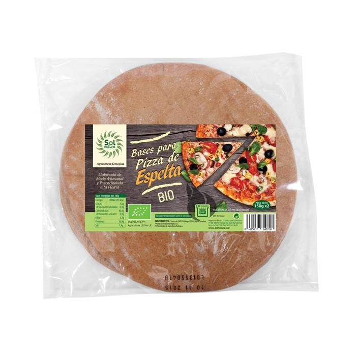 Base de Pizza de Espelta Integral Bio 2x150