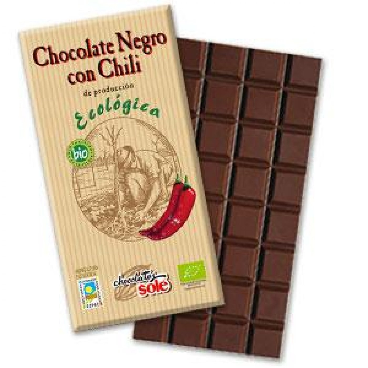 Chocolate Negro con Chili Bio - 100g