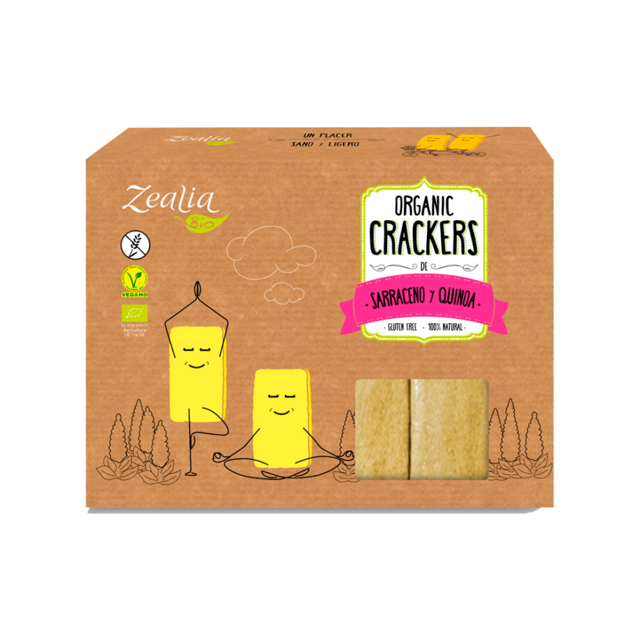 Cracker sarraceno y quinoa sin gluten eco