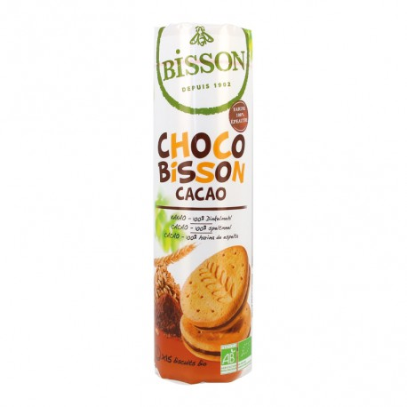 Galletas choco Bisson rellenas chocolate bio 300G