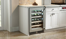 "Load image into Gallery viewer, Perlick - 24"" Signature Series Dual-Zone Wine Reserve - HP24DS-3"