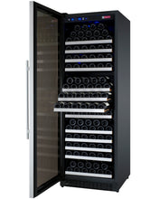 "Load image into Gallery viewer, Allavino - 24"" Wide FlexCount II Tru-Vino 177 Bottle Single Zone Stainless Steel Wine Refrigerator - VSWR177-1SL20 - VSWR177-1SR20"