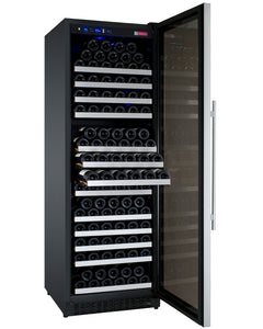 "Allavino - 24"" Wide FlexCount II Tru-Vino 177 Bottle Single Zone Stainless Steel Wine Refrigerator - VSWR177-1SL20 - VSWR177-1SR20"