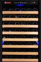 "Load image into Gallery viewer, Allavino - 24"" Wide FlexCount Classic II Tru-Vino 174 Bottle Single Zone Stainless Steel Wine Refrigerator - YHWR174-1SL20 - YHWR174-1SR20"
