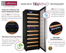 "Load image into Gallery viewer, Allavino - 24"" Wide Vite II Tru-Vino 99 Bottle Dual Zone Stainless Steel Right Hinge Wine Refrigerator - YHWR99-2SR20"