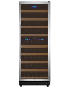 "Allavino - 24"" Wide Vite II Tru-Vino 99 Bottle Dual Zone Stainless Steel Right Hinge Wine Refrigerator - YHWR99-2SR20"
