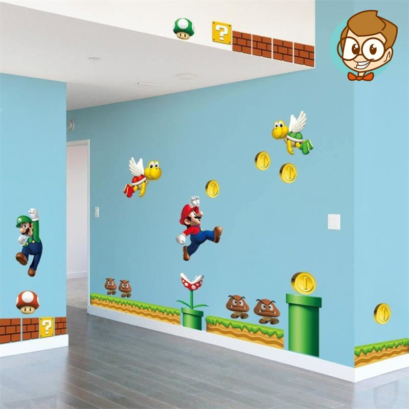 Sticker Mural Super Mario Chine