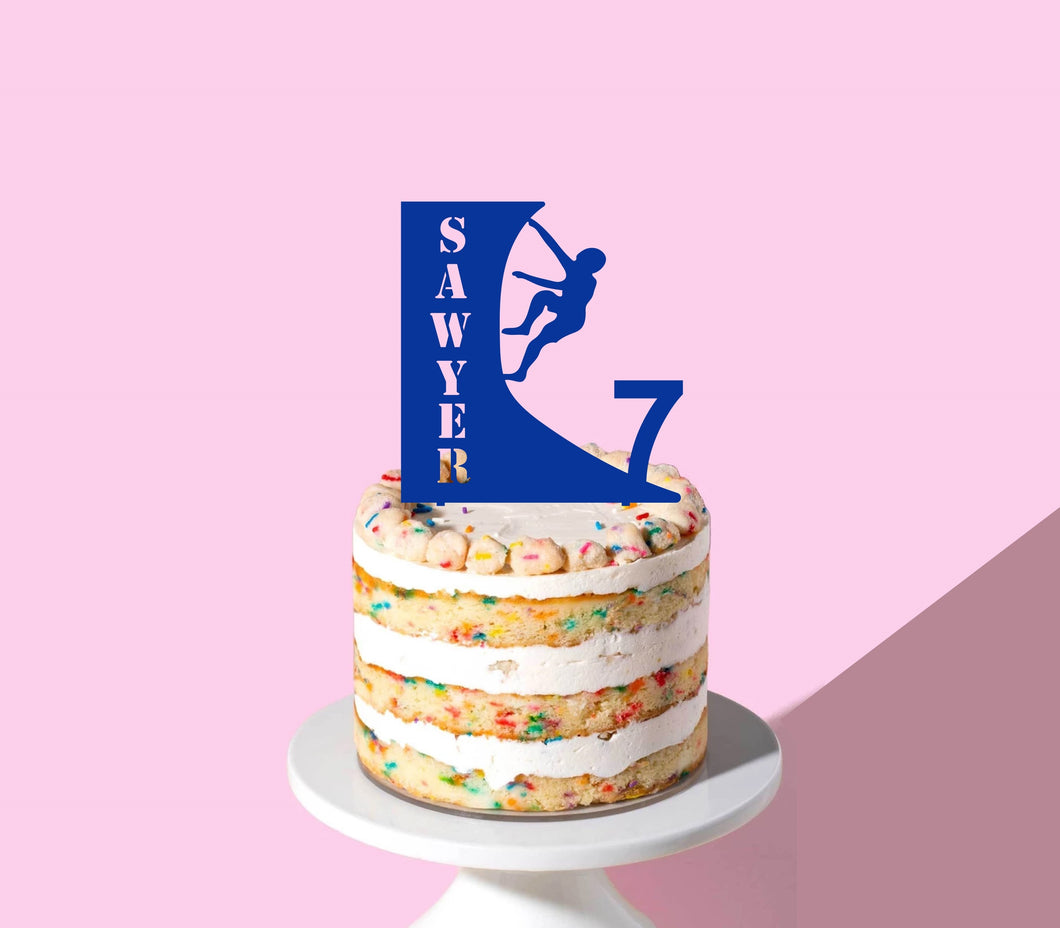 Rock Climber Birthday Cake Topper