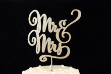 Load image into Gallery viewer, Mr and Mrs Elegant Script Wedding Cake Topper